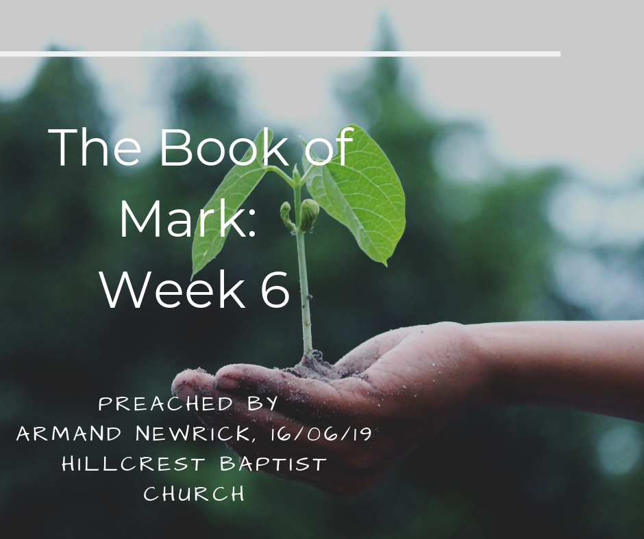 The Book of Mark: Week 6 – Armand Newrick
