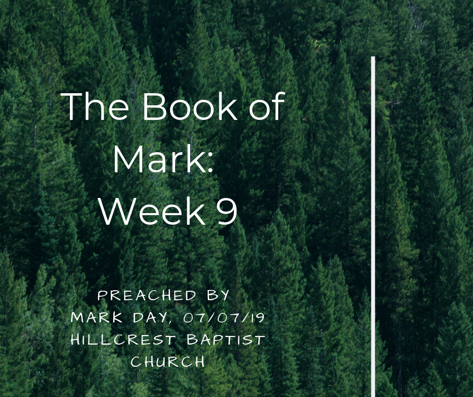 The Book of Mark: Week 9 – Mark Day