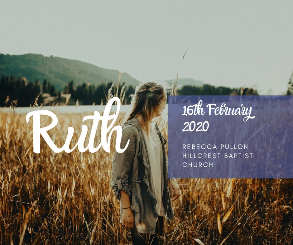 16th February 2020, Rebecca Pullon – 'Ruth'
