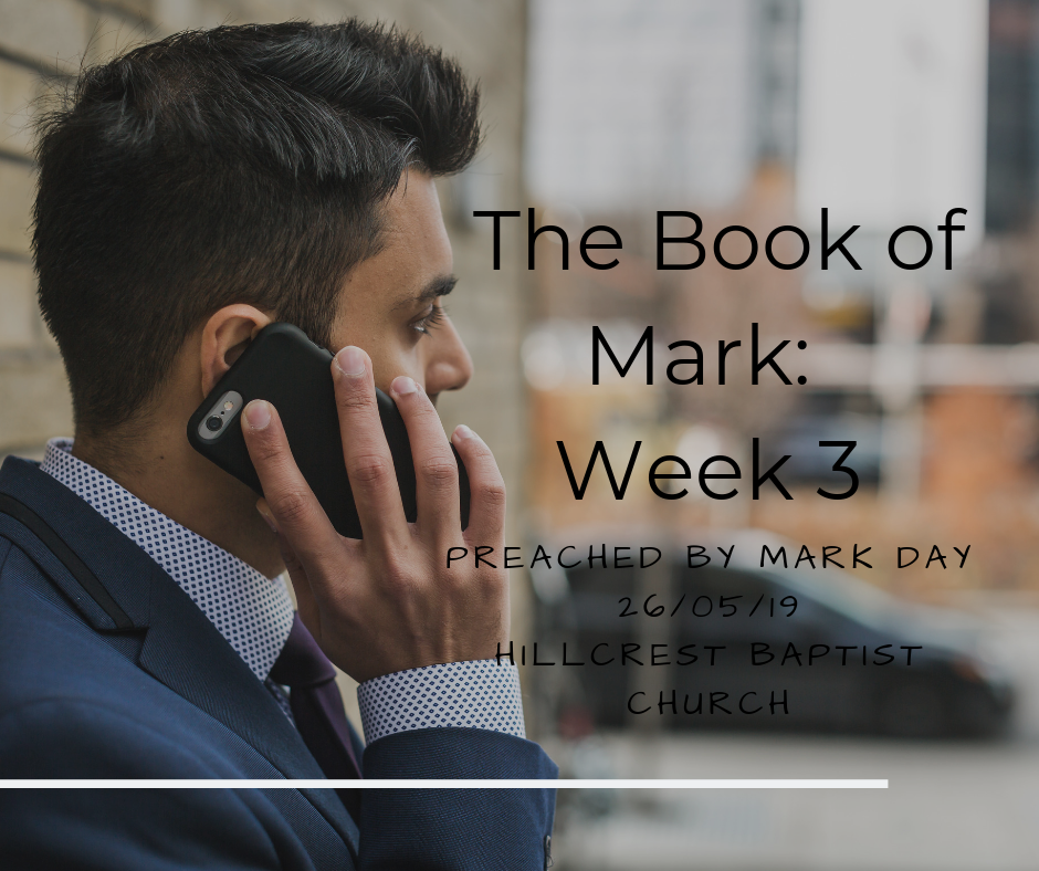 The Book of Mark Series : Week 3 – Mark Day